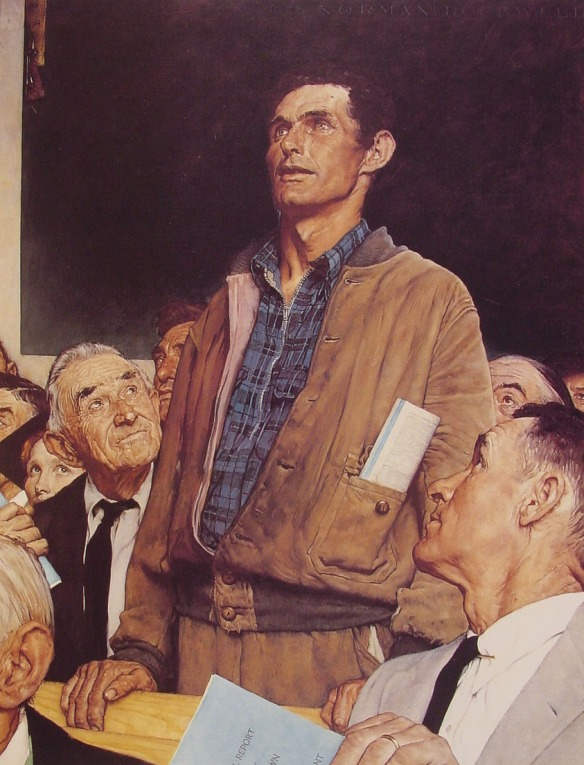 Freedom of Speech - Norman Rockwell