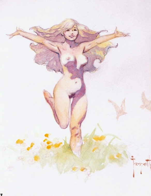 Frank Frazetta - Angel Hair